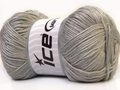 Lot of 4 x 100gr Skeins Ice Yarns BABY ANTIBACTERIAL (100% Antibacterial Dralon) Yarn Grey