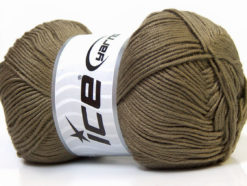 Lot of 4 x 100gr Skeins Ice Yarns BABY ANTIBACTERIAL (100% Antibacterial Dralon) Yarn Khaki