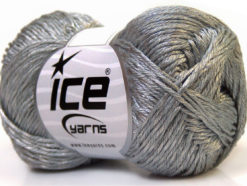 Lot of 4 x 100gr Skeins Ice Yarns TENA (50% Cotton) Hand Knitting Yarn Grey
