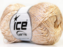 Lot of 4 x 100gr Skeins Ice Yarns TENA (50% Cotton) Hand Knitting Yarn Cream