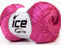 Lot of 4 x 100gr Skeins Ice Yarns TENA (50% Cotton) Hand Knitting Yarn Pink
