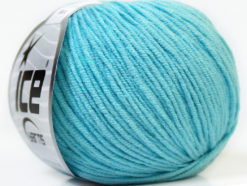 Lot of 8 Skeins Ice Yarns ALARA (50% Cotton) Hand Knitting Yarn Light Turquoise