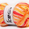 Lot of 4 x 100gr Skeins Ice Yarns CANDY BABY Yarn Red Orange Yellow White