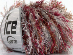 Lot of 8 Skeins Ice Yarns EYELASH COLORFUL Yarn Brown Burgundy Light Grey