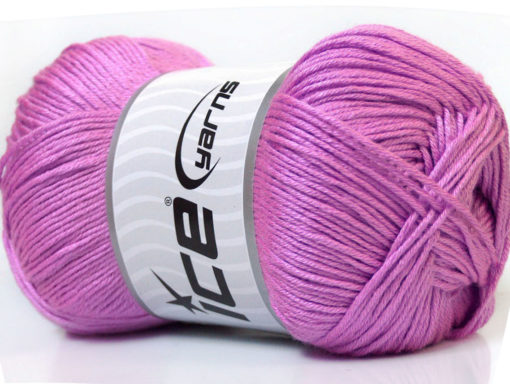 Lot of 4 x 100gr Skeins Ice Yarns BABY ANTIBACTERIAL (100% Antibacterial Dralon) Yarn Lilac