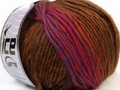 Lot of 8 Skeins Ice Yarns VIVID WOOL (60% Wool) Yarn Green Pink Blue Brown