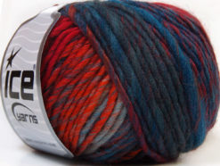 Lot of 8 Skeins Ice Yarns VIVID WOOL (60% Wool) Yarn Orange Blue Shades Gold Green Shades