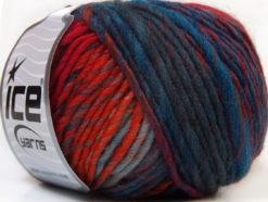 Lot of 8 Skeins Ice Yarns VIVID WOOL (60% Wool) Yarn Orange Blue Shades Gold Green Shades