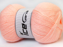 Lot of 4 x 100gr Skeins Ice Yarns SUPER BABY Hand Knitting Yarn Light Orange