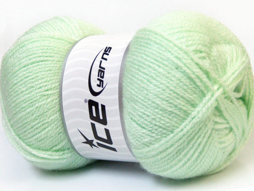Lot of 4 x 100gr Skeins Ice Yarns SUPER BABY Hand Knitting Yarn Baby Green