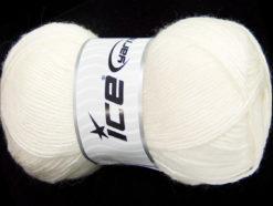 Lot of 4 x 100gr Skeins Ice Yarns MIRAGE (50% Wool) Hand Knitting Yarn White