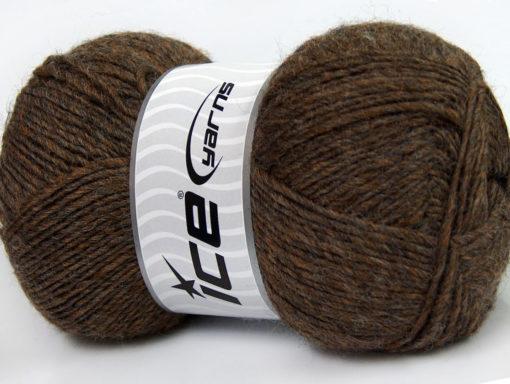 Lot of 4 x 100gr Skeins Ice Yarns MIRAGE (50% Wool) Yarn Brown Melange