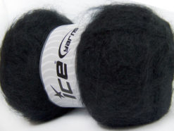 Lot of 4 x 100gr Skeins Ice Yarns BERMUDA MOHAIR (70% Mohair) Yarn Black