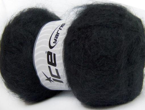 Lot of 4 x 100gr Skeins Ice Yarns BERMUDA MOHAIR (70% Mohair) Yarn Black