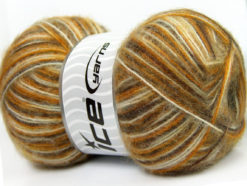 Lot of 4 x 100gr Skeins Ice Yarns ANGORA SUPREME COLOR (70% Angora) Yarn Green Orange White