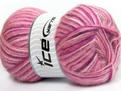 Lot of 4 x 100gr Skeins Ice Yarns ANGORA SUPREME COLOR (70% Angora) Yarn Pink Shades