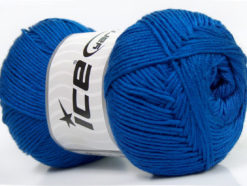 Lot of 4 x 100gr Skeins Ice Yarns BABY ANTIBACTERIAL (100% Antibacterial Dralon) Yarn Royal Blue