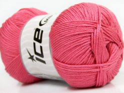 Lot of 4 x 100gr Skeins Ice Yarns BABY ANTIBACTERIAL (100% Antibacterial Dralon) Yarn Rose Pink