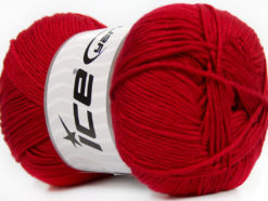 Lot of 4 x 100gr Skeins Ice Yarns BABY ANTIBACTERIAL (100% Antibacterial Dralon) Yarn Dark Red