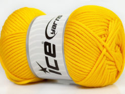 Lot of 4 x 100gr Skeins Ice Yarns TUBE VISCOSE (73% Viscose) Yarn Yellow