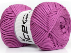 Lot of 4 x 100gr Skeins Ice Yarns TUBE VISCOSE (73% Viscose) Yarn Orchid