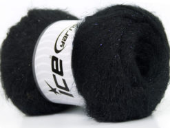 Lot of 6 Skeins Ice Yarns KID MOHAIR PEARL (50% Kid Mohair) Yarn Black