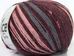 Lot of 4 x 100gr Skeins Ice Yarns ALPACA FINE MAGIC (25% Alpaca 35% Wool) Yarn Maroon Pink Grey