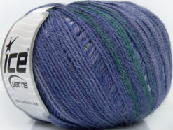 Lot of 4 x 100gr Skeins Ice Yarns ALPACA FINE MAGIC (25% Alpaca 35% Wool) Yarn Purple Shades Dark Green