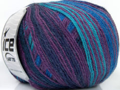 Lot of 4 x 100gr Skeins Ice Yarns ALPACA FINE MAGIC (25% Alpaca 35% Wool) Yarn Purple Maroon Blue Turquoise