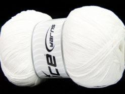 Lot of 4 x 100gr Skeins Ice Yarns LORENA SUPERFINE (55% Cotton) Yarn White