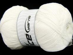 Lot of 4 x 100gr Skeins Ice Yarns LORENA SUPERFINE (55% Cotton) Yarn Off White