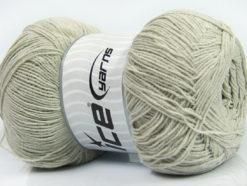 Lot of 4 x 100gr Skeins Ice Yarns LORENA SUPERFINE (55% Cotton) Yarn Light Grey