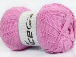 Lot of 4 x 100gr Skeins Ice Yarns LORENA SUPERFINE (55% Cotton) Yarn Pink