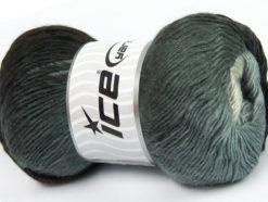 Lot of 4 x 100gr Skeins Ice Yarns PRIMADONNA (50% Wool) Yarn Grey Shades