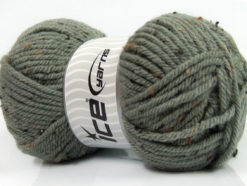 Lot of 4 x 100gr Skeins Ice Yarns WOOL TWEED SUPERBULKY (25% Wool 3% Viscose) Yarn Grey