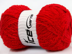 Lot of 4 x 100gr Skeins Ice Yarns PUFFY (100% MicroFiber) Yarn Red