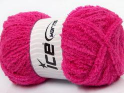 Lot of 4 x 100gr Skeins Ice Yarns PUFFY (100% MicroFiber) Yarn Fuchsia