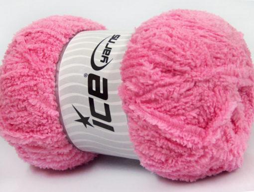 Lot of 4 x 100gr Skeins Ice Yarns PUFFY (100% MicroFiber) Yarn Pink