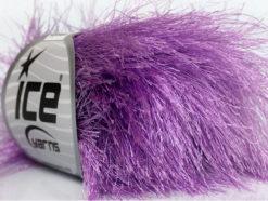 Lot of 8 Skeins Ice Yarns LONG EYELASH Hand Knitting Yarn Lilac