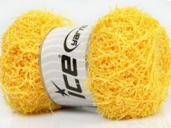 Lot of 4 x 100gr Skeins Ice Yarns SCRUBBER TWIST Hand Knitting Yarn Yellow