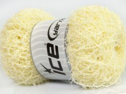 Lot of 4 x 100gr Skeins Ice Yarns SCRUBBER TWIST Yarn Light Yellow
