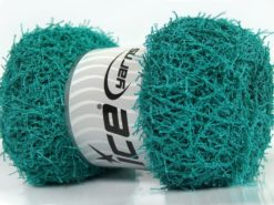 Lot of 4 x 100gr Skeins Ice Yarns SCRUBBER TWIST Hand Knitting Yarn Teal