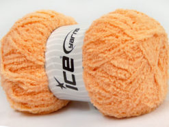 Lot of 4 x 100gr Skeins Ice Yarns PUFFY (100% MicroFiber) Yarn Light Salmon