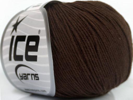 Lot of 8 Skeins Ice Yarns BABY SUMMER (60% Cotton) Yarn Dark Brown