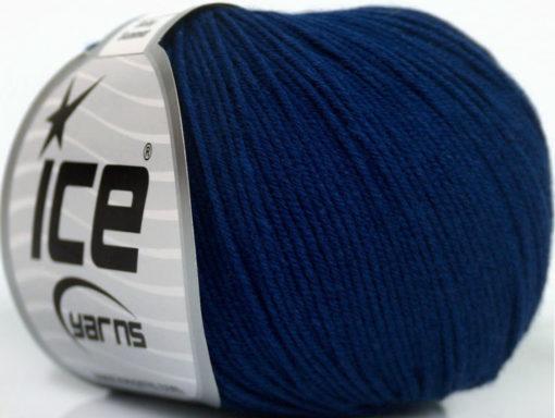 Lot of 8 Skeins Ice Yarns BABY SUMMER (60% Cotton) Hand Knitting Yarn Navy