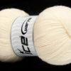 Lot of 4 x 100gr Skeins Ice Yarns VIRGIN WOOL DELUXE (100% Virgin Wool) Yarn Cream