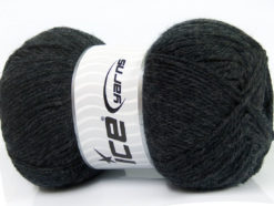 Lot of 4 x 100gr Skeins Ice Yarns VIRGIN WOOL DELUXE (100% Virgin Wool) Yarn Anthracite Black