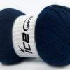 Lot of 4 x 100gr Skeins Ice Yarns VIRGIN WOOL DELUXE (100% Virgin Wool) Yarn Navy