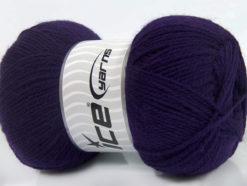 Lot of 4 x 100gr Skeins Ice Yarns VIRGIN WOOL DELUXE (100% Virgin Wool) Yarn Purple