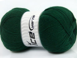 Lot of 4 x 100gr Skeins Ice Yarns VIRGIN WOOL DELUXE (100% Virgin Wool) Yarn Dark Green